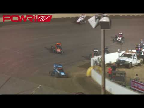 8/3/18 POWRi Lucas Oil National Midget League at Federated Auto Parts I-55 Raceway Highlights