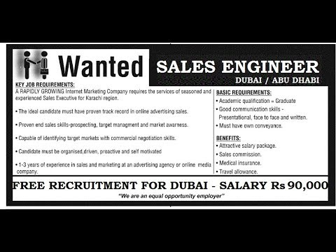 JOBS IN DUBAI | SALES & MARKETING | Rs 90000 | FREE RECRUITMENT | DUBAI LATEST JOB 2018