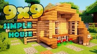 Minecraft 9x9 house - простой дом.(Всем привет! Сегодня я покажу как сделать небольшой и экономный домик в игре майнкрафт. Вам понадобятся..., 2015-03-04T17:10:20.000Z)