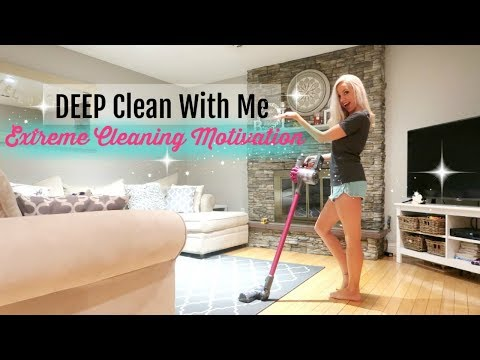 CLEAN WITH ME 2017// EXTREME CLEANING MOTIVATION // DEEP CLEANING LIVING ROOM