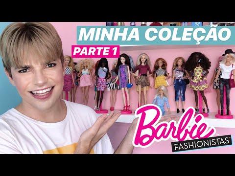 MINHA COLEÇÃO DE BARBIES FASHIONISTAS - PARTE 1 | BARBIE BOY MAIDERSON