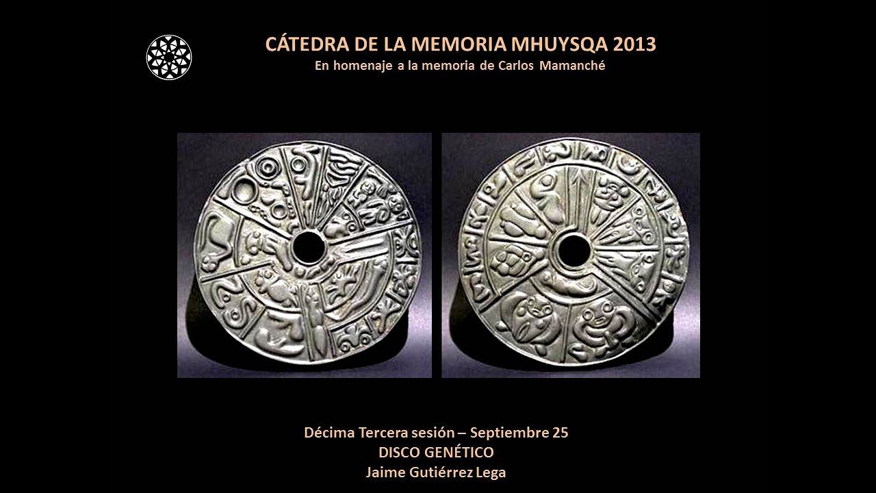 DISCO GENÉTICO. Jaime Gutiérrez Lega. 2013.13