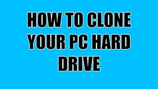 How to Clone / Take An Image Of A PC Hard Drive - PC Tutorial - ZanyGeek