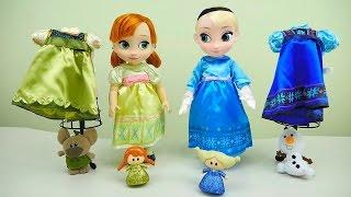 Холодное сердце - Набор с Большими куклами Эльза и Анна. Видео для девочек. FROZEN Anna & Elsa Delux