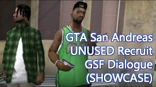 GTA San Andreas - Unused CJ Recruiting GSF Dialogue Showcase
