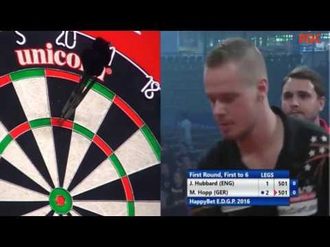 2016 European Darts Grand Prix Round 1 Hubbard vs Hopp