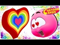 Learn with Colorful Hearts | WonderBalls Valentine's Day Special | Cartoon Candy