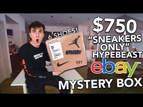 $750 SNEAKERS ONLY  EBAY HYPEBEAST MYSTERY BOX!
