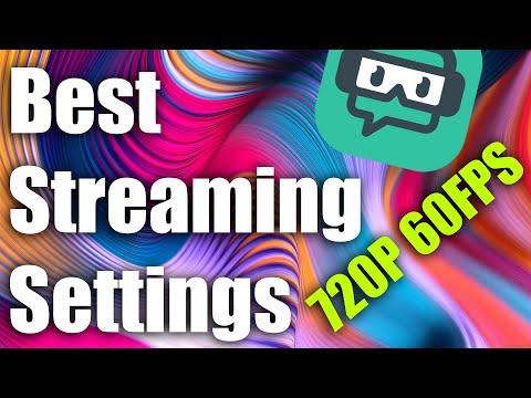 obs stream settings 720p