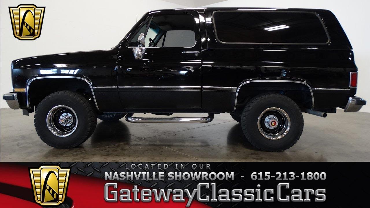Chevy Blazer 4x4 >> 1986 Chevrolet K5 Blazer 4x4,Gateay Classic Cars-Nashville#507 - YouTube