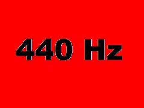 440 Hz (10 seconds of A)