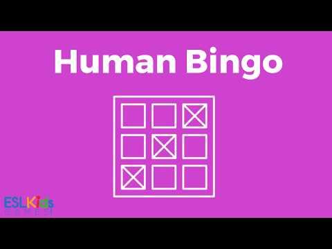 ESL Icebreaker: Human Bingo