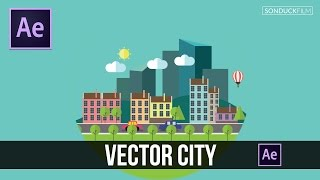 After Effects Tutorial: Creating a Detailed City with Vectors