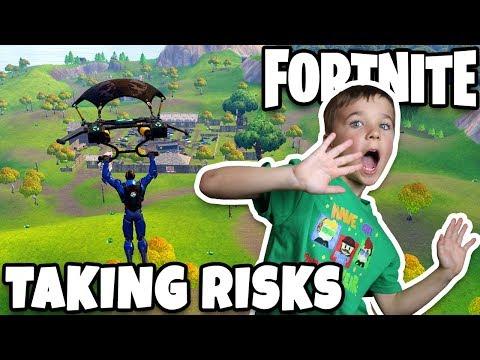 TAKING SOME RISKS AND LANDING IN RISKY REELS!!! FORTNITE