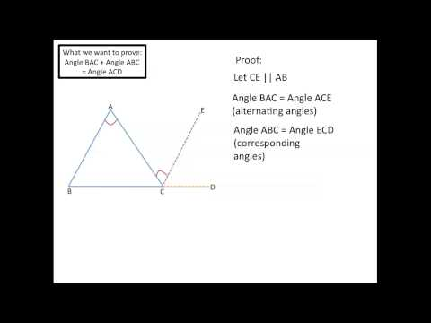 Exterior and Remote Interior Angles in a Triangle YouTube