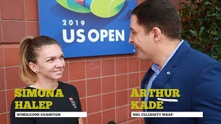 Tennis star Simona Halep checks in with NHL Celebrity Wrap