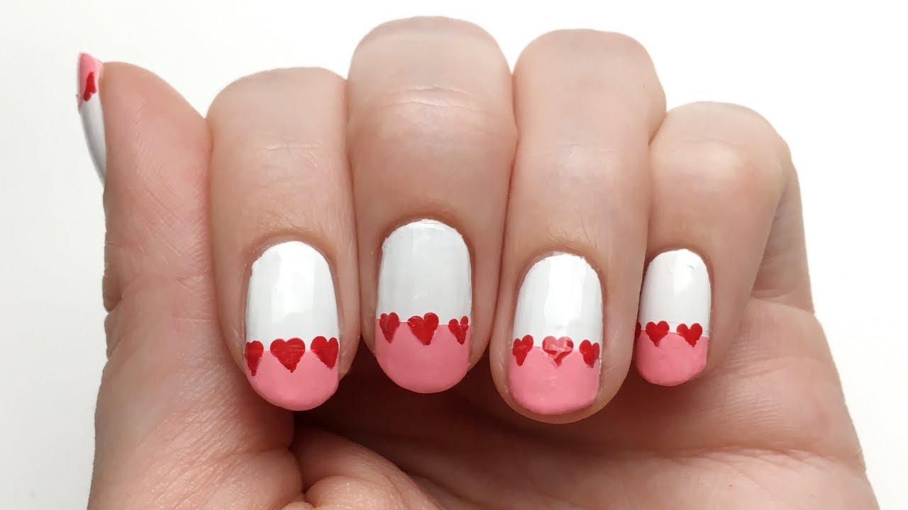 Nageldesign Valentinstag Herzen   \'seni Nageldesign - YouTube