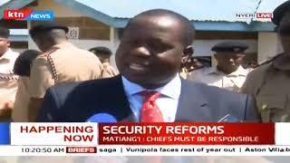 Security Reforms: CS Matiang'i has launched a regional security team to look into coffee theft
