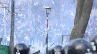 Противостояние на Грушевского Беркут 20.01.14