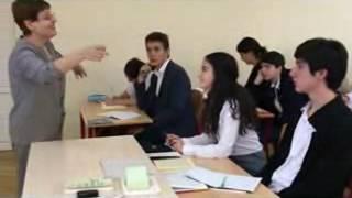 открытый урок по русскому языку в школе им. А. Маргаряна