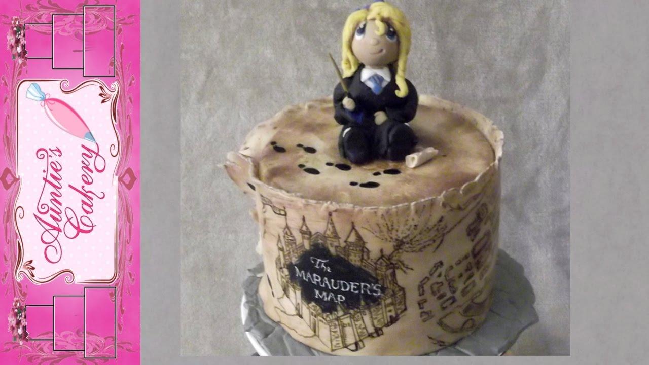 Marauder S Map Harry Potter Cake