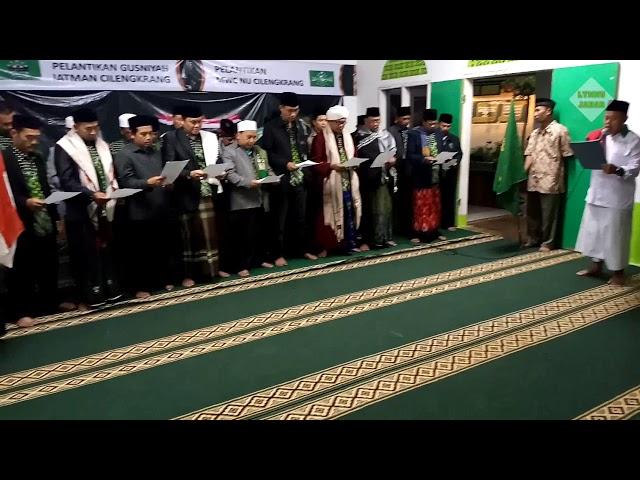Pengurus MWC NU dan Ranting Se-Kecamatan Cilengkrang Kab. Bandung dilantik
