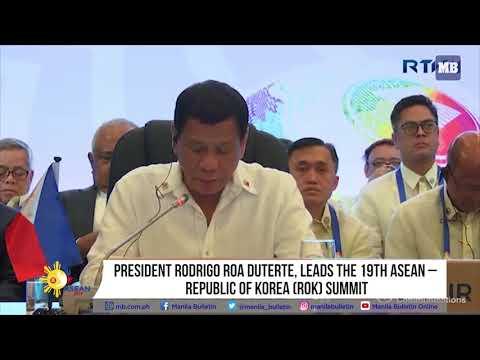 President Rodrigo Roa Duterte, leads the 19th ASEAN – Republic of Korea ROK Summit