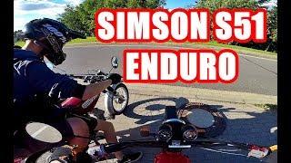 ICH FAHRE DAS ERSTE MAL EINE SIMSON S51 ENDURO :D