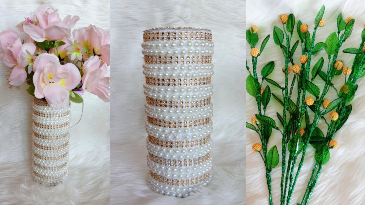 Mudah sekali merangkai bunga akrilik dan vas bunga cantik || DIY home decoration ideas