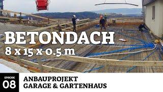 Garagendecke aus Metall und Beton : Anbauprojekt Garage & Gartenhaus