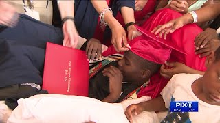 11-year-old boy struck by stray bullet in Brooklyn shooting celebrates graduation in hospital