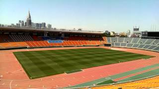 The stadium of the 1964 Olympics in Tokyo.