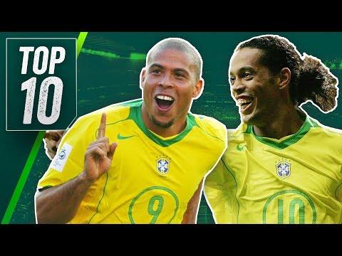 Top 10 Greatest Brazil Football Players Ever ft Ronaldinho, Ronaldo & Pele!