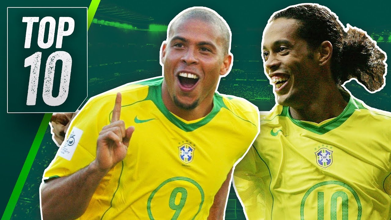 top 10 greatest brazil football players ever ft ronaldinho ronaldo