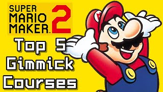 Super Mario Maker 2 Top 5 GIMMICK COURSES (Switch)