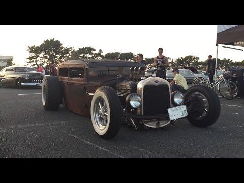 【搬出動画】ホットロッドver. Calflavor2015 キャルフレーバー hotrod Lowered Lowcar exhaust