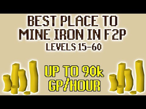 [OSRS] Mining Iron At The Best Place In F2P For 15-60 Mining