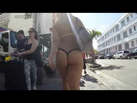 Candid G String Blondie Bikini Ass