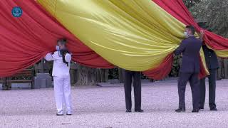 Izado Solemne de la Bandera Nacional: XLI Aniversario de la constitución del Tribunal Constitucional