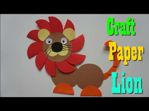 Art Cutting Paper ||  Craft Paper Lion For Kids || paper craft art