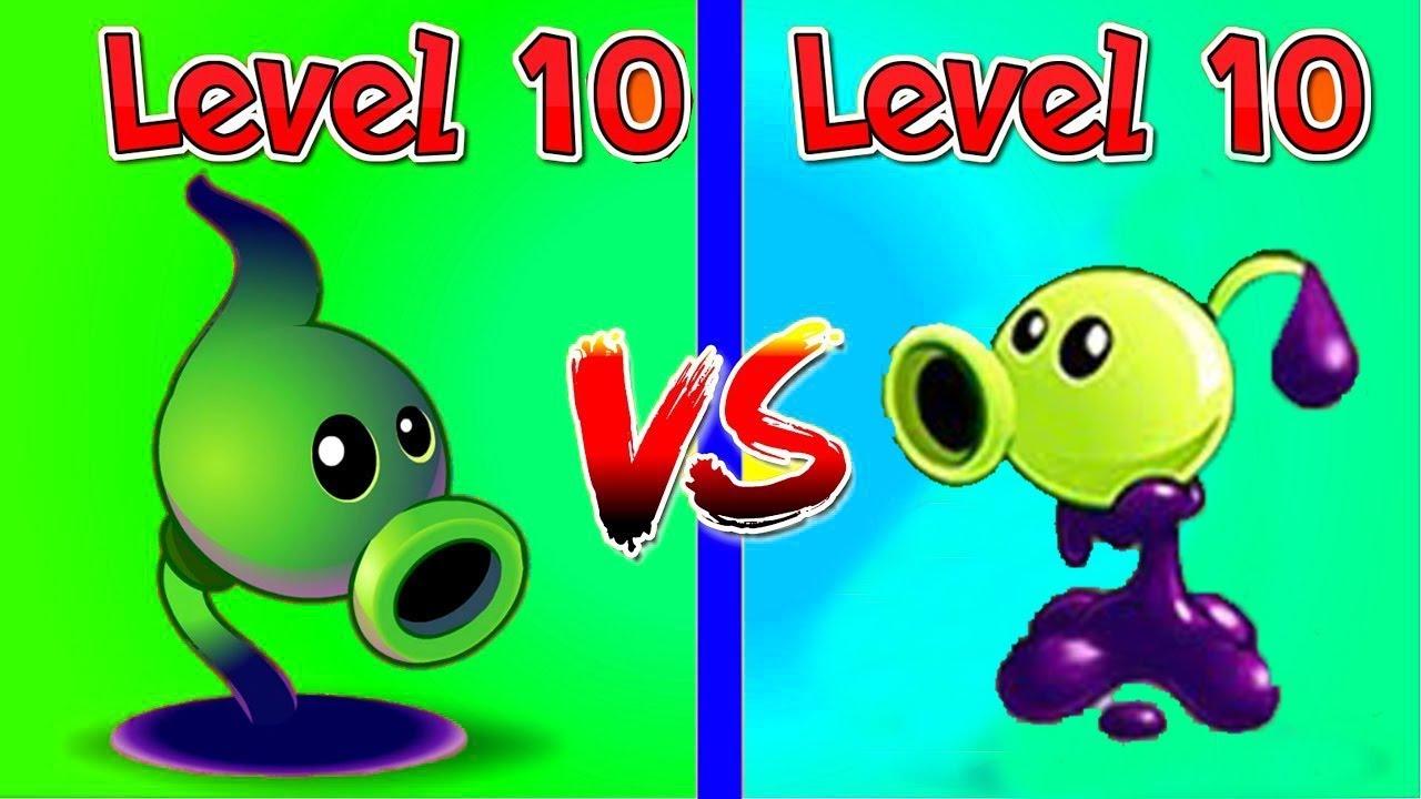 Plants vs Zombies 2 : Goo Peashooter (10) vs Shadow Peashooter (10)