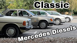 W123  W124  W210  W211  BIG Mercedes Diesels COMPARISON wait to end for 060 times and comfort test