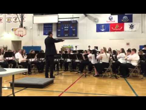 Minooka junior high school band competition. Song 3