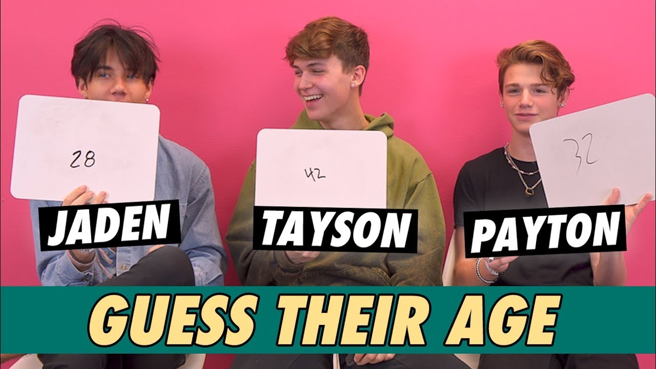 Payton Moormeier, Tayson Madkour & Jaden Hossler - Guess Their Age