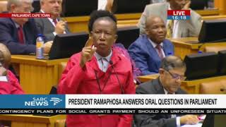 Ramaphosa fails to answer EFF CIC Julius Malema's follow up question in Parliament