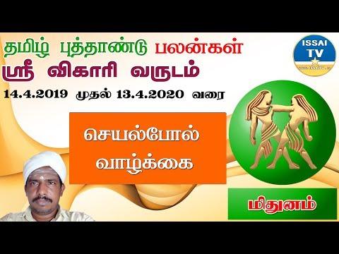 மிதுனம் ராசி விகாரி தமிழ் புத்தாண்டு பலன்கள் 2019 | Methunam Rasi Vigari Tamil Puthandu Rasi Palan