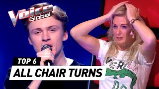 BEST ALL CHAIR TURN Blind Auditions in The Voice Kids