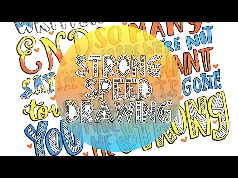 Strong Lyric Art-One Direction Speed Drawing