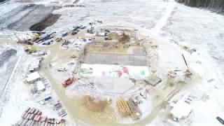 видео: Строительство главного Храма ВС РФ - 2018-11-27