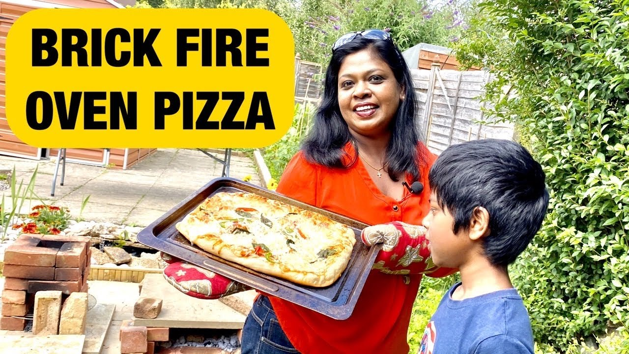 செங்கல் ஓவன் பிஸா IN OUR GARDEN /OUTDOOR BRICK FIRE OVEN PIZZA/ஈஸியா பிசா செய்யலாம் வாங்க!